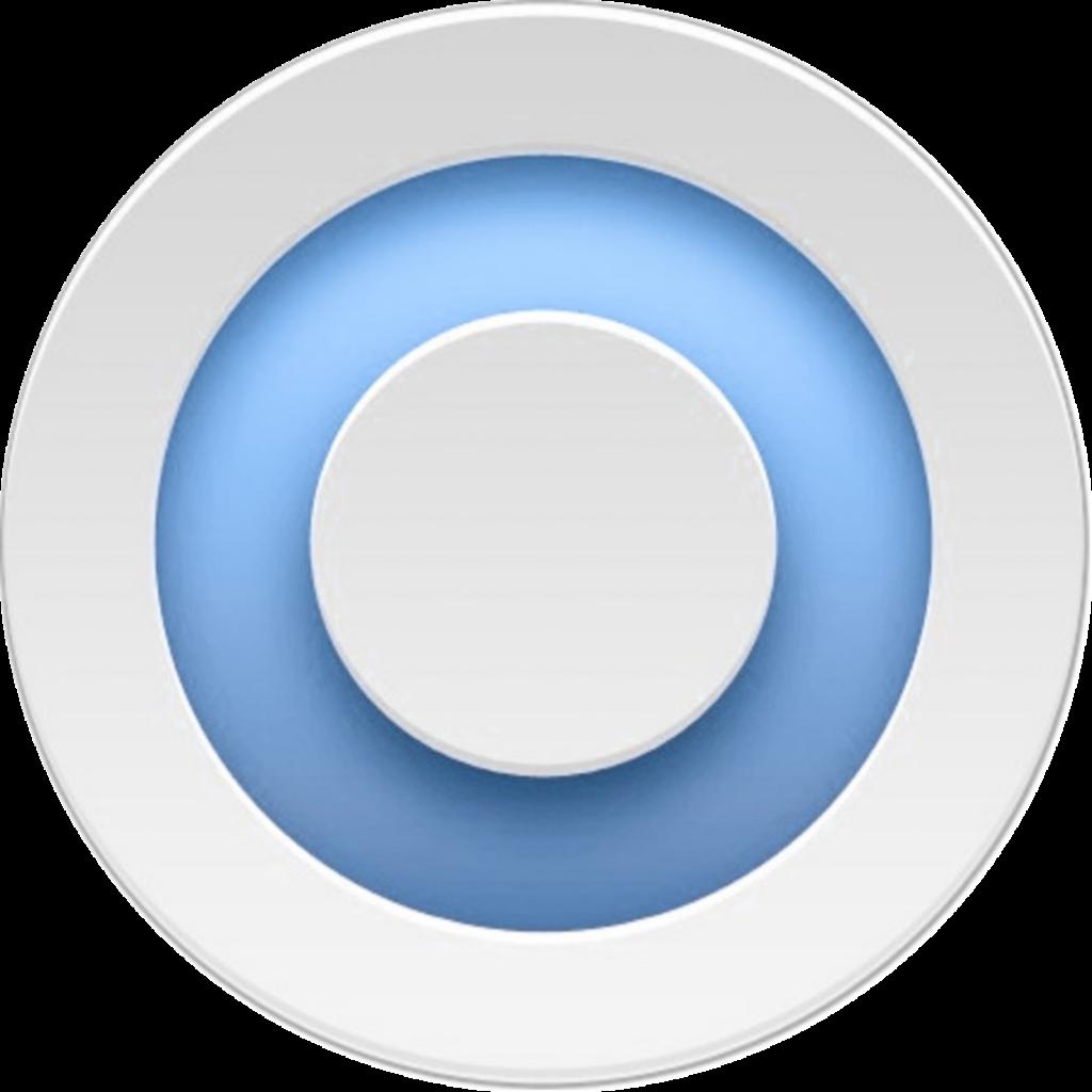 Значок синего круга - NanoPlatok (BlueSunrise)