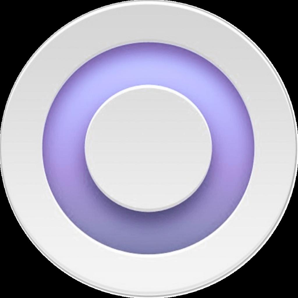 Значок фиолетового круга - NanoPlatok (VioletSunset)